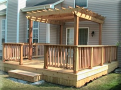 deck with arbor