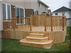 Custom deck with skirting