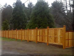 Solid cedar fence panel