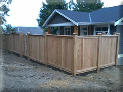 solid board cedar fence panel