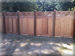 Cedar lattice top fence panel